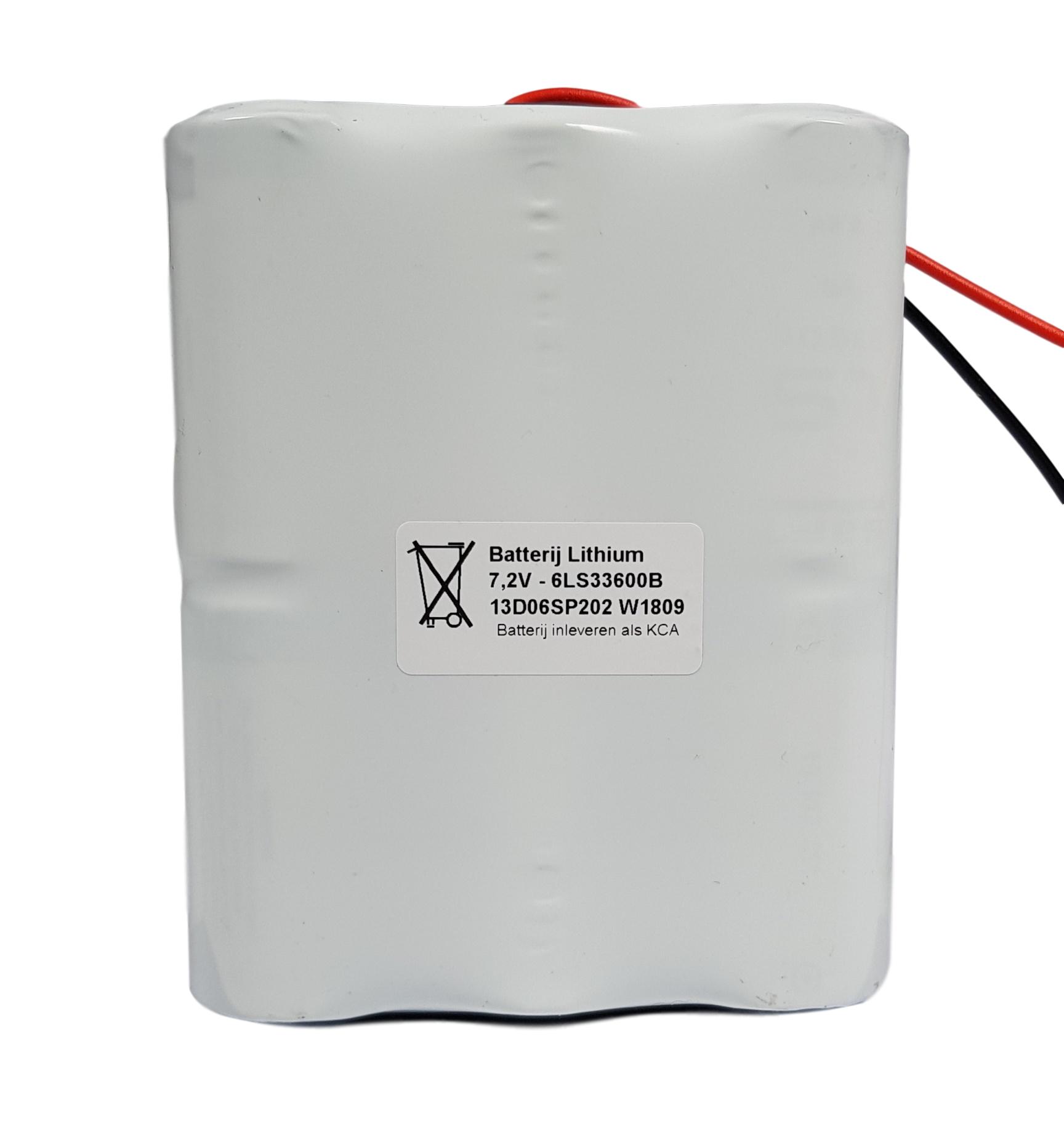 Batterijpack Lithium Saft/Arts 7,2V 3x2STAAFSBS afgemonteerd met diodes - Draadaansluiting