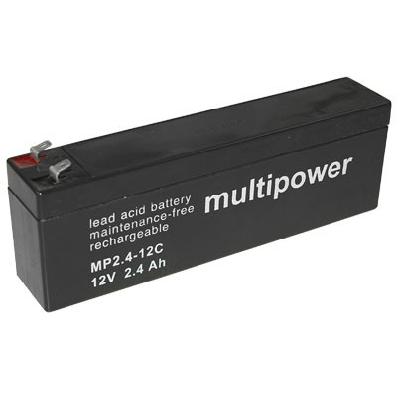 MP2.4-12C - 12V 2,4Ah AGM Algemeen gebruik van Multipower