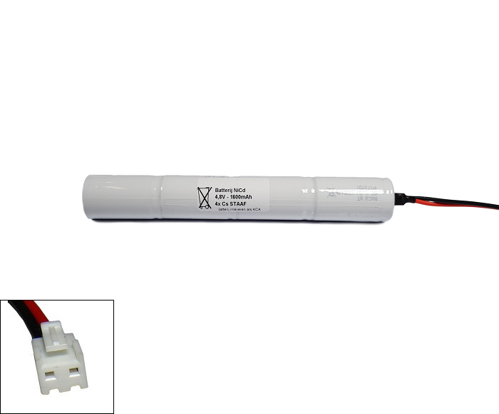 Arts Energy (Saft) NiCd 4,8V 1600mAh 4xCs VNT staaf met S04 aansluiting