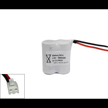Arts Energy (Saft) NiCd 2,4V 1600mAh 2xCs VNT side by side met S04 aansluiting