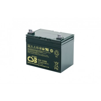 EVH12390 - 12V 39Ah Deep Cycle AGM loodaccu van CSB Battery