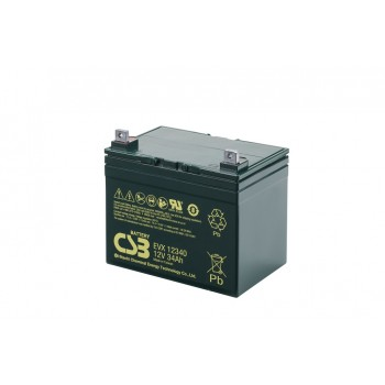 EVX12340 - 12V 34Ah Deep Cycle AGM loodaccu van CSB Battery