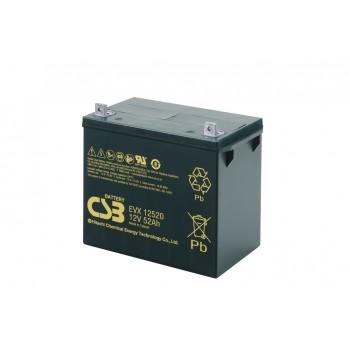 EVX12520 - 12V 52Ah Deep Cycle AGM loodaccu van CSB Battery