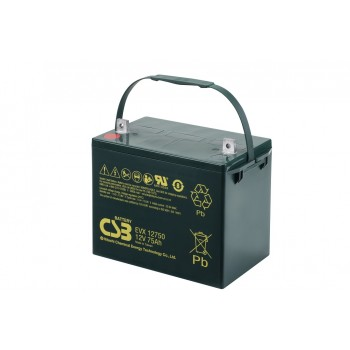 EVX12750 - 12V 75Ah Deep Cycle AGM loodaccu van CSB Battery
