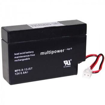 MP0.8-12JST - 12V 0,8Ah AGM Algemeen gebruik van Multipower