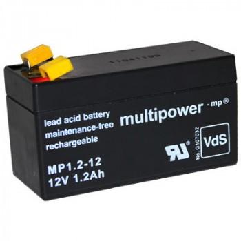 MP1.2-12 - 12V 1,2Ah AGM Algemeen gebruik van Multipower