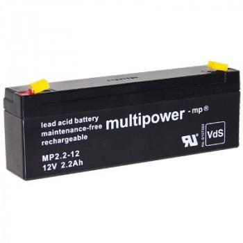 MP2.2-12 - 12V 2,2Ah AGM Algemeen gebruik van Multipower