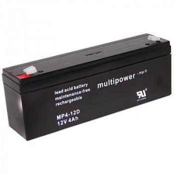 MP4-12D - 12V 4Ah AGM Algemeen gebruik van Multipower