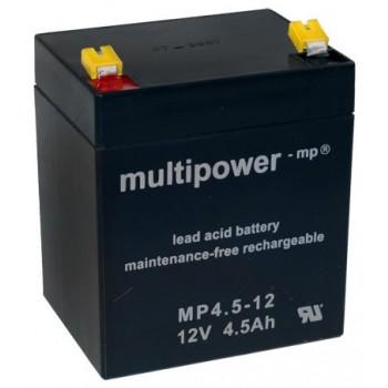 MP4.5-12 - 12V 4,5Ah AGM Algemeen gebruik van Multipower