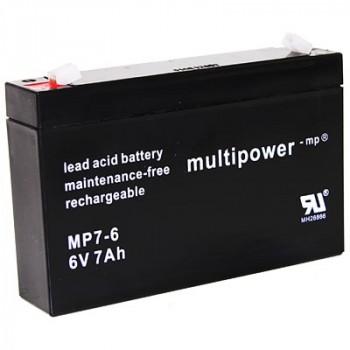 MP7-6 - 6V 7Ah AGM Algemeen gebruik van Multipower