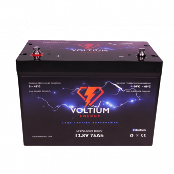 Voltium Energy® LiFePO4 accu 12,8V 75Ah met APP