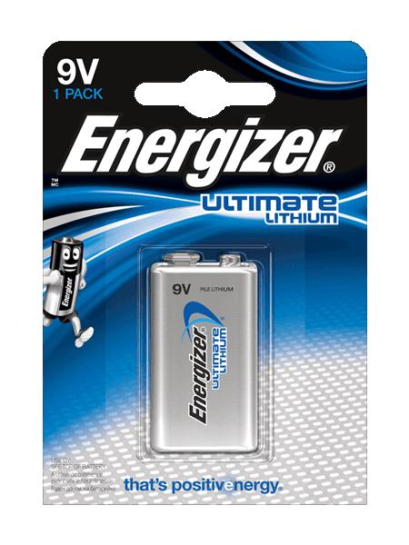 6LR61 Energizer Ultimate Lithium 9V BL2