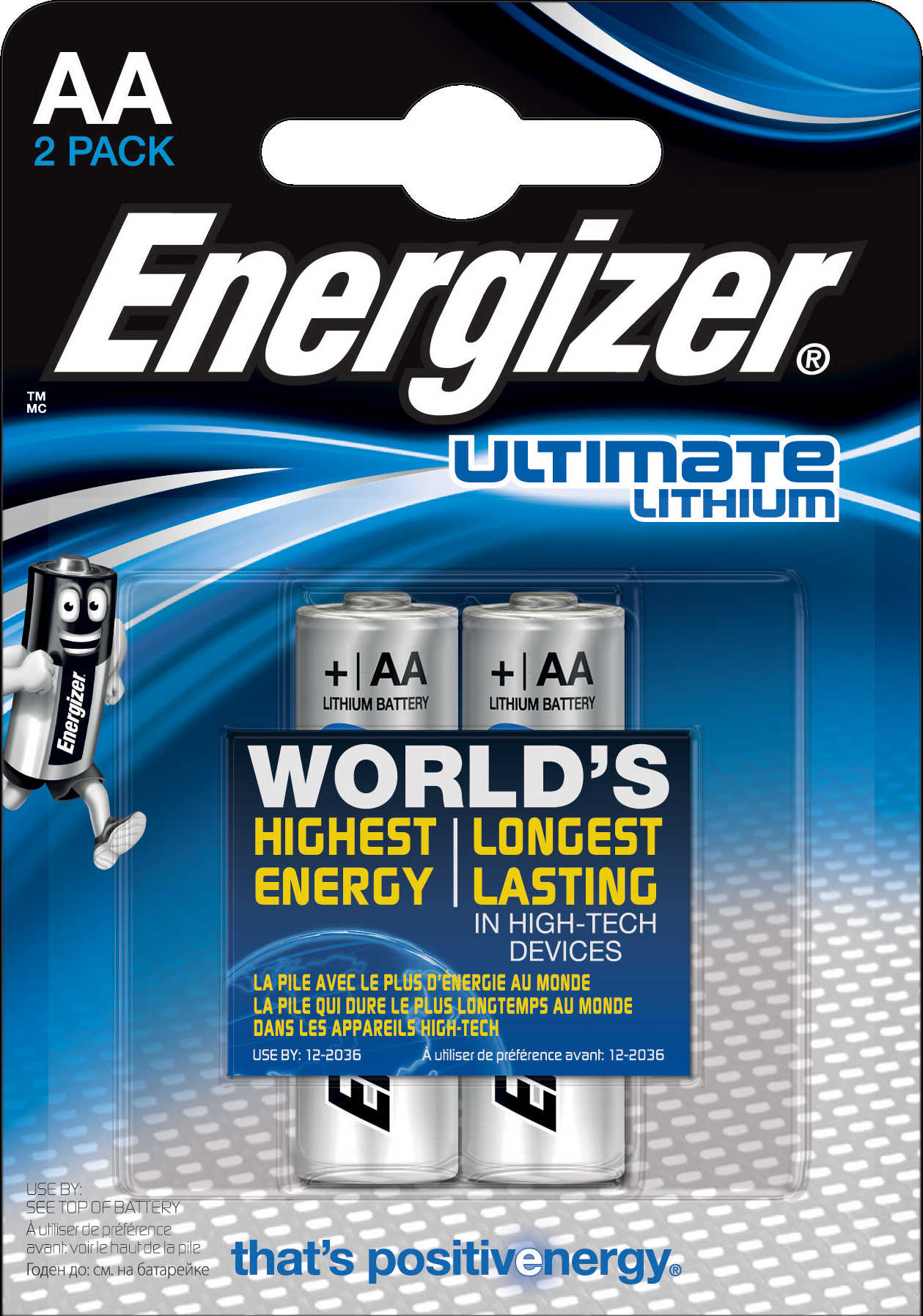 L92 Energizer Ultimate Lithium AA BL2