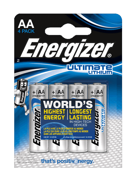 L92 Energizer Ultimate Lithium AA BL4