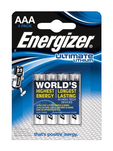 L91 Energizer Ultimate Lithium AAA BL4