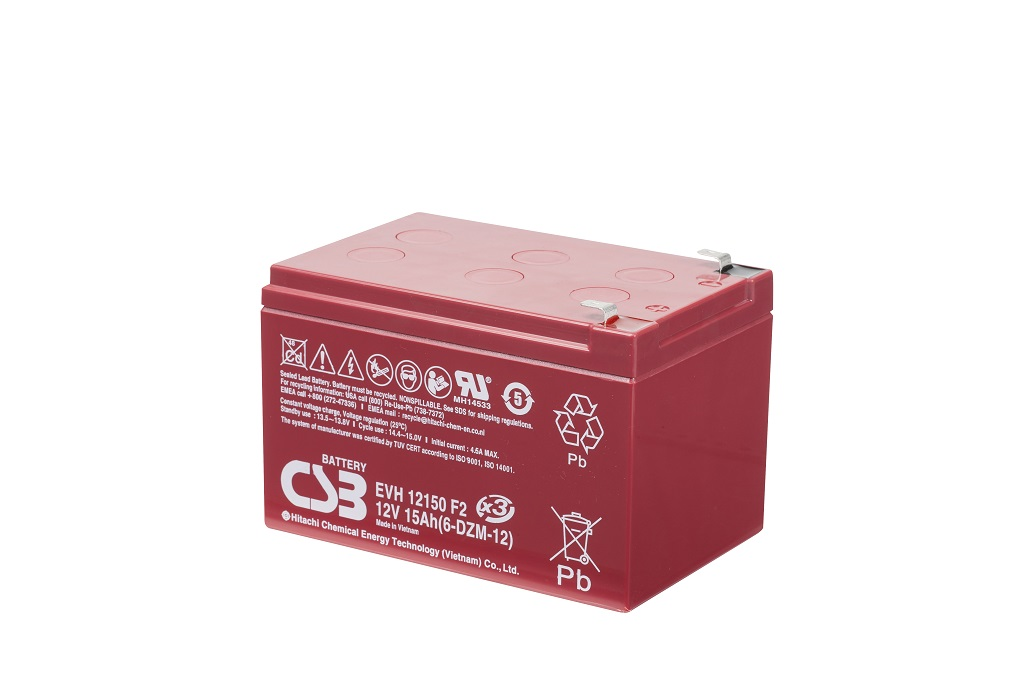 EVH12150 - 12V 15Ah Deep Cycle AGM loodaccu van CSB Battery