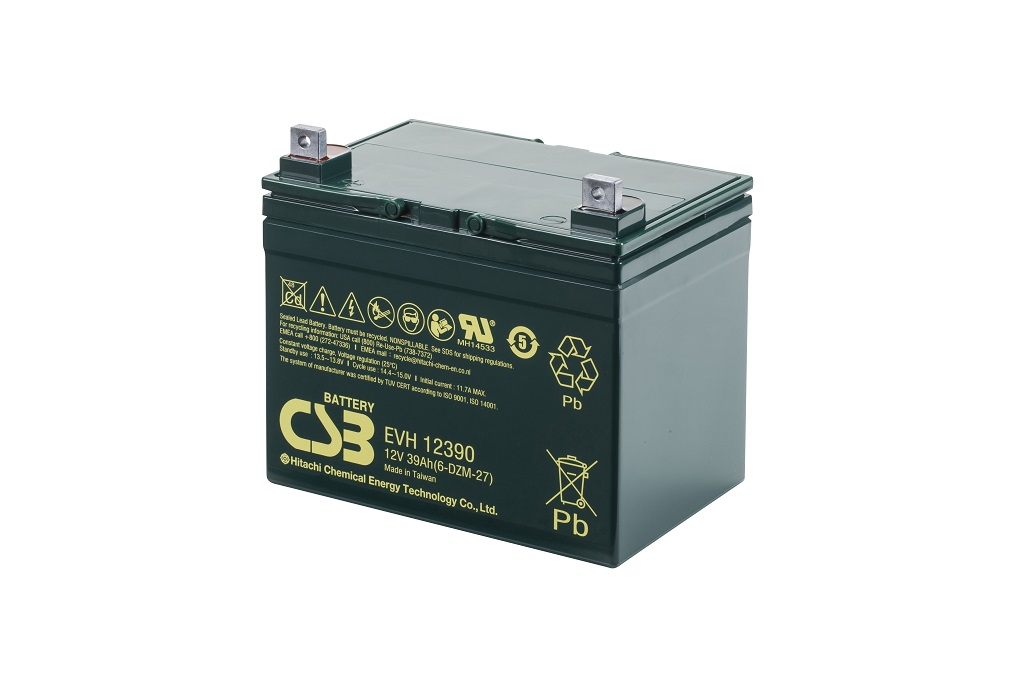 EVH12390 - 12V 39Ah Deep Cycle AGM loodaccu van CSB Battery