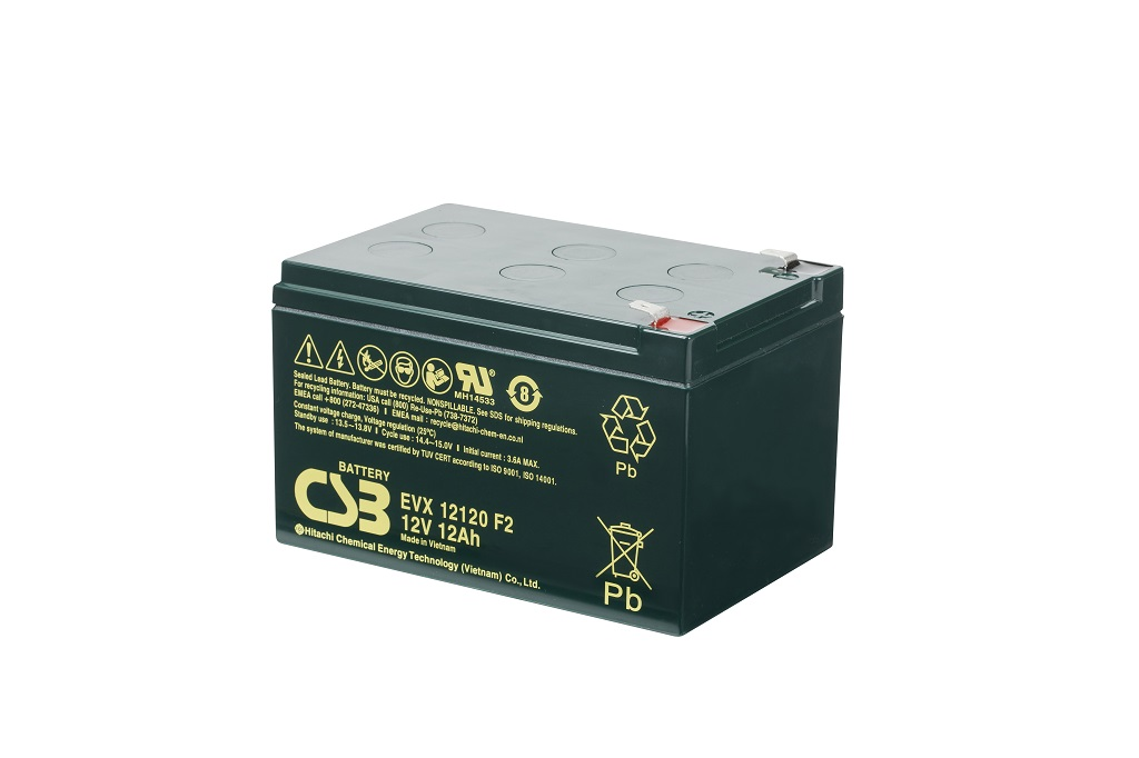 EVX12120 - 12V 12Ah Deep Cycle AGM loodaccu van CSB Battery
