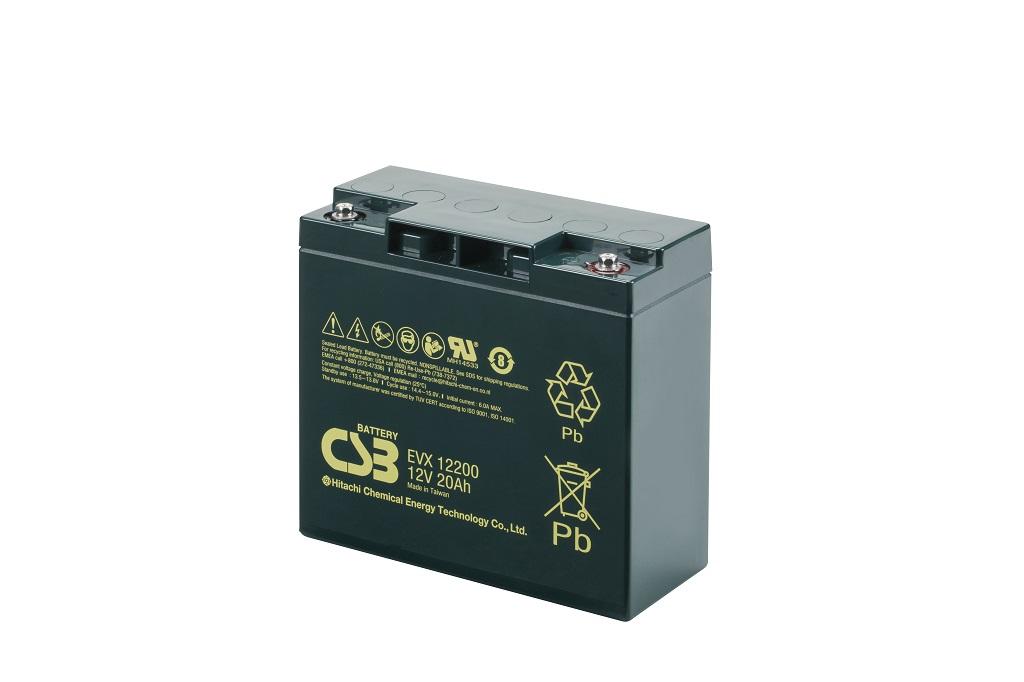 EVX12200 - 12V 20Ah Deep Cycle AGM loodaccu van CSB Battery