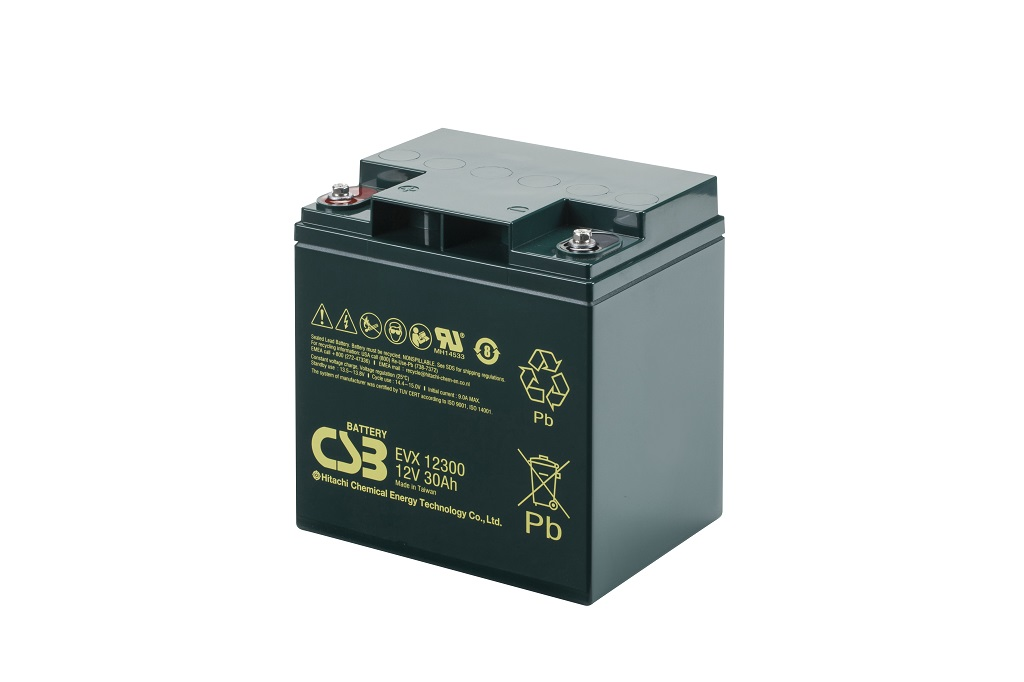 EVX12300 - 12V 30Ah Deep Cycle AGM loodaccu van CSB Battery