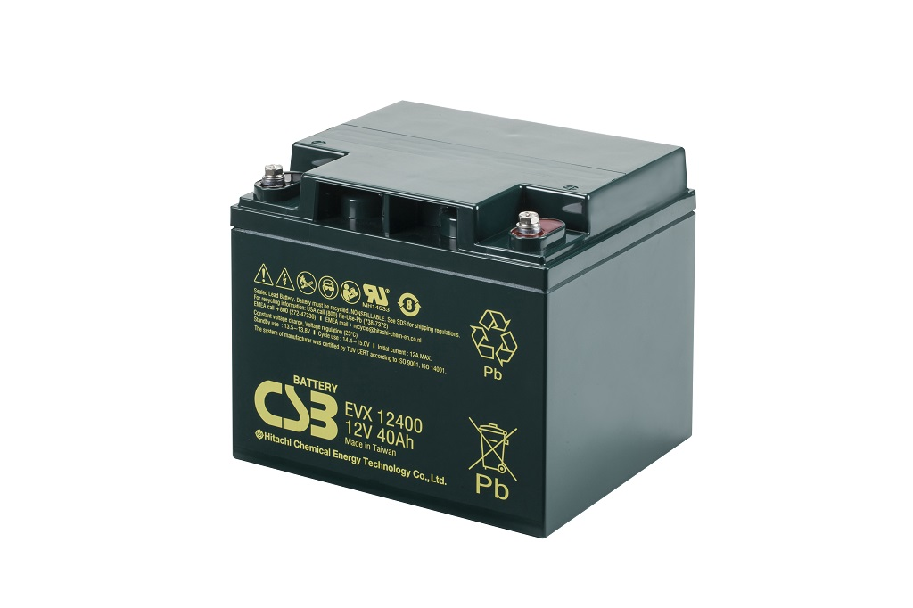 EVX12400 - 12V 40Ah Deep Cycle AGM loodaccu van CSB Battery
