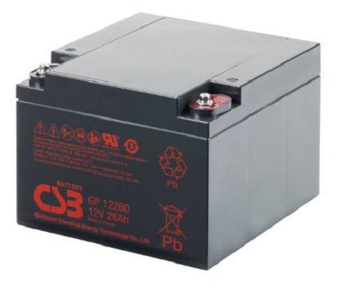 GP12260 - 12V 26Ah AGM Algemeen gebruik van CSB Battery