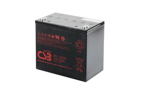 GPL12520 - 12V 52Ah AGM Algemeen gebruik Long Life van CSB Battery