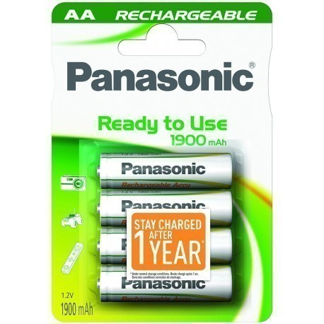 HHR-3MVE Panasonic READY2USE Rechargeable AA BL4
