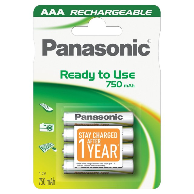 HHR-4MVE Panasonic READY2USE Rechargeable AAA BL4