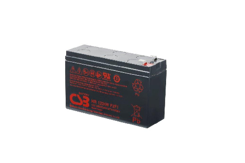 HR1224WF2F1 - 12V 6Ah 24W AGM High Rate van CSB Battery