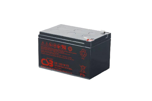 HR1251W - 12V 12,75Ah 51W AGM High Rate van CSB Battery