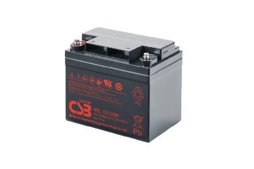 HRL12150W - 12V 39Ah 155W AGM High Rate Long Life van CSB Battery