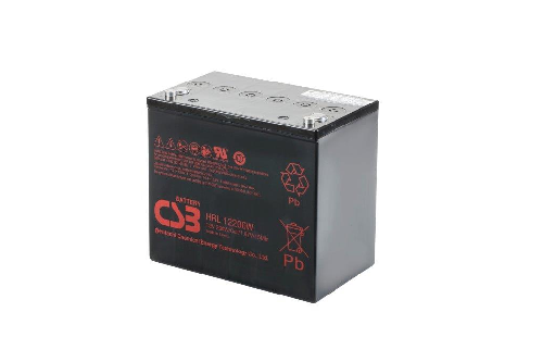 HRL12200W - 12V 54Ah 215W AGM High Rate Long Life van CSB Battery
