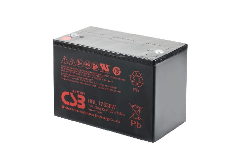 HRL12330W - 12V 82Ah 330W AGM High Rate Long Life van CSB Battery