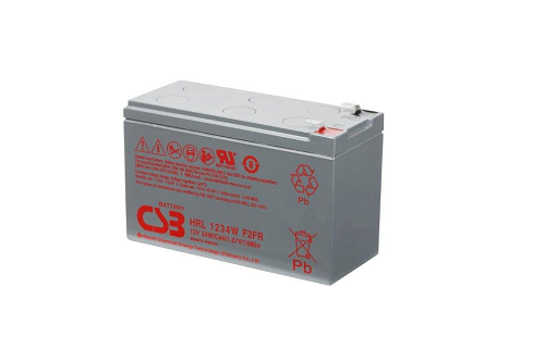 HRL1234W - 12V 8,5Ah 34W AGM High Rate Long Life van CSB Battery
