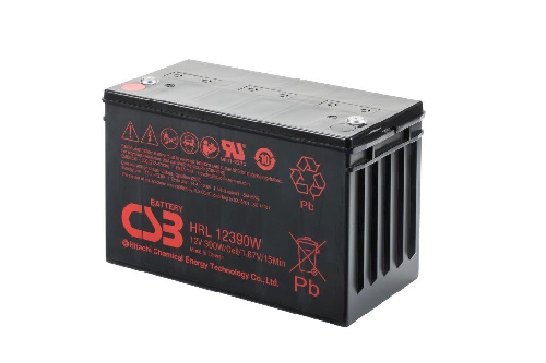 HRL12390W - 12V 102Ah 410W AGM High Rate Long Life van CSB Battery