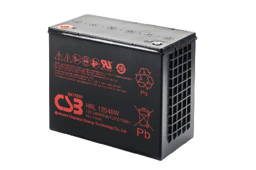 HRL12540W - 12V 135Ah 540W AGM High Rate Long Life van CSB Battery