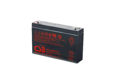 HRL634W - 6V 8,5Ah 34W AGM High Rate Long Life van CSB Battery