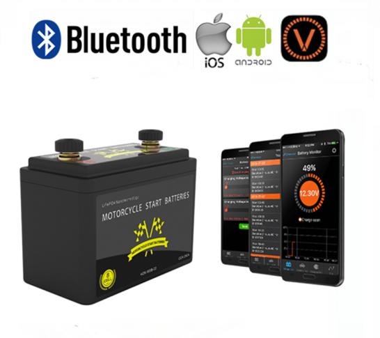 LiFePO4 startaccu 12V 5Ah 260CCA met Bluetooth