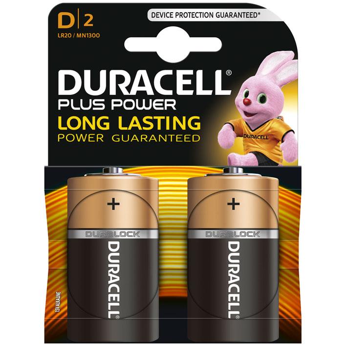 MN1300 Duracell Plus Power D BL2