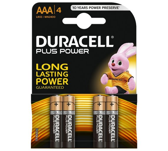 MN2400 Duracell Plus Power AAA BL4