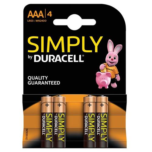 MN2400 Duracell Simply AAA BL4