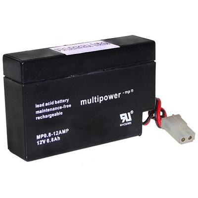 MP0.8-12 - 12V 0,8Ah AGM Algemeen gebruik van Multipower