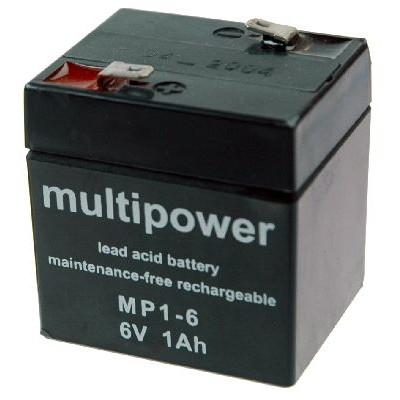 MP1-6 - 6V 1Ah AGM Algemeen gebruik van Multipower