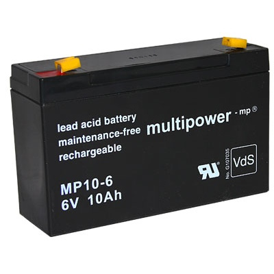 MP10-6 - 6V 10Ah AGM Algemeen gebruik van Multipower