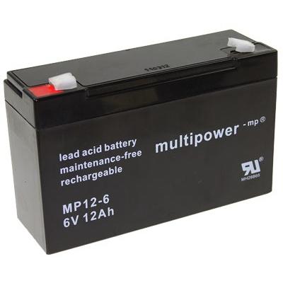 MP12-6 - 6V 12Ah AGM Algemeen gebruik van Multipower