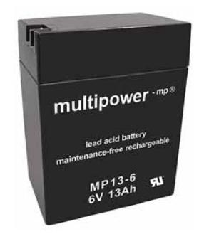 MP13-6 - 6V 13Ah AGM Algemeen gebruik van Multipower