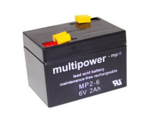 MP2-6 - 6V 2Ah AGM Algemeen gebruik van Multipower