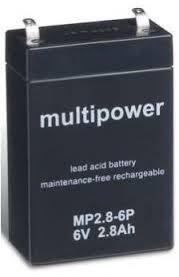 MP2.8-6P - 6V 2,8Ah AGM Algemeen gebruik van Multipower