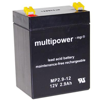 MP2.9-12 - 12V 2,9Ah AGM Algemeen gebruik van Multipower